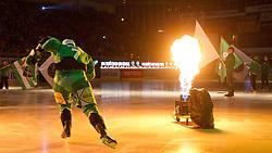 Domen Vedlin (HDD Tilia Olimpija, #7) during ice-hockey match between HDD Tilia Olimpija and SAPA Fehervar AV19 at sixth match in Quarterfinal  of EBEL league, on March 1, 2012 at Hala Tivoli, Ljubljana, Slovenia. (Photo By Matic Klansek Velej / Sportida)