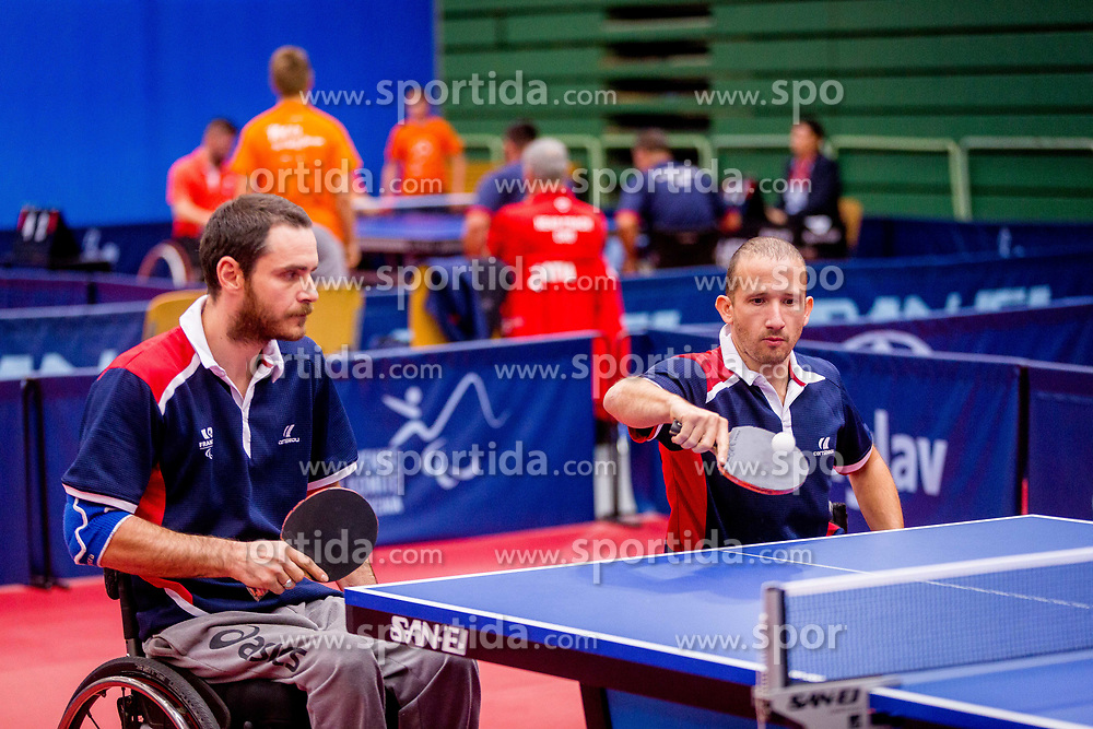 FRANCE (SAVANT-AIRA Nicolas and DELARQUE Alexandre) during day 4 of 15th EPINT tournament - European Table Tennis Championships for the Disabled 2017, at Arena Tri Lilije, Lasko, Slovenia, on October 1, 2017. Photo by Ziga Zupan / Sportida
