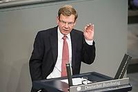 27 JUN 2013, BERLIN/GERMANY:<br /> Dr. Johann Wadephul, MdB, CDU, haelt eine Rede, Bundestagsdebatte zur Arbeitnehmerueberlassung, Plenum, Deutscher Bundestag<br /> IMAGE: 20130627-01-135<br /> KEYWORDS: Debatte, Sitzung