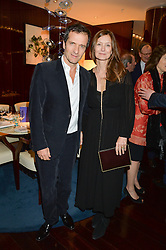 DAVID HEYMAN and ROSE UNIACKE at a dinner hosted by AA Gill & Nicola Formby in support of the Borne charity held at Rivea at the Bulgari Hotel, Knightsbridge, London on 3rd February 2015.