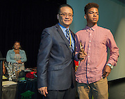 Liyjon DeSilva is recognized during a Senior awards ceremony at Lee High School, May 25, 2016.