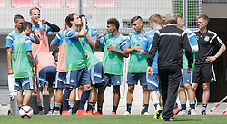 03.06.2015, Steinbergstadion, Leogang, AUT, U 21 EM, Vorbereitung Deutschland, im Bild die Spieler bei einer Trinkpause // during Trainingscamp of Team Germany for Preparation of the UEFA European Under 21 Championship at the Steinbergstadium in Leogang, Austria on 2015/06/03. EXPA Pictures © 2015, PhotoCredit: EXPA/ JFK