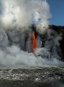 Fire hose lava flow from Hawaii's Kilauea Volcano, Volcanoes National Park, Hawaii