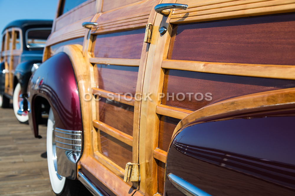 Classic Woody Cars on the San Clemente Pier