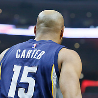 12 April 2016: Memphis Grizzlies guard Vince Carter (15) is seen during the Los Angeles Clippers 110-84 victory over the Memphis Grizzlies, at the Staples Center, Los Angeles, California, USA.