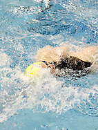 Vandalia-Butler junior Jamie Barrett competes in the 100 yard backstroke during the Girls Division I District Swimming Tournament at the Corwin Nixon Natatorium at Miami University, Saturday, February 16, 2008.