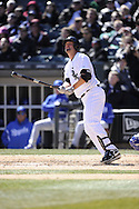 CHICAGO - APRIL 03:  Paul Konerko #14 the Chicago White Sox bats against the Kansas City Royals on April 3, 2013 at U.S. Cellular Field in Chicago, Illinois.  The White Sox defeated the Royals 5-2.  (Photo by Ron Vesely)   Subject: Paul Konerko