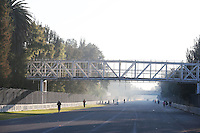 The Start / Finish straight looking towards turn 1. <br /> Autodromo Hermanos Rodriguez Circuit Visit, Mexico City, Mexico. Thursday 22nd January 2015.