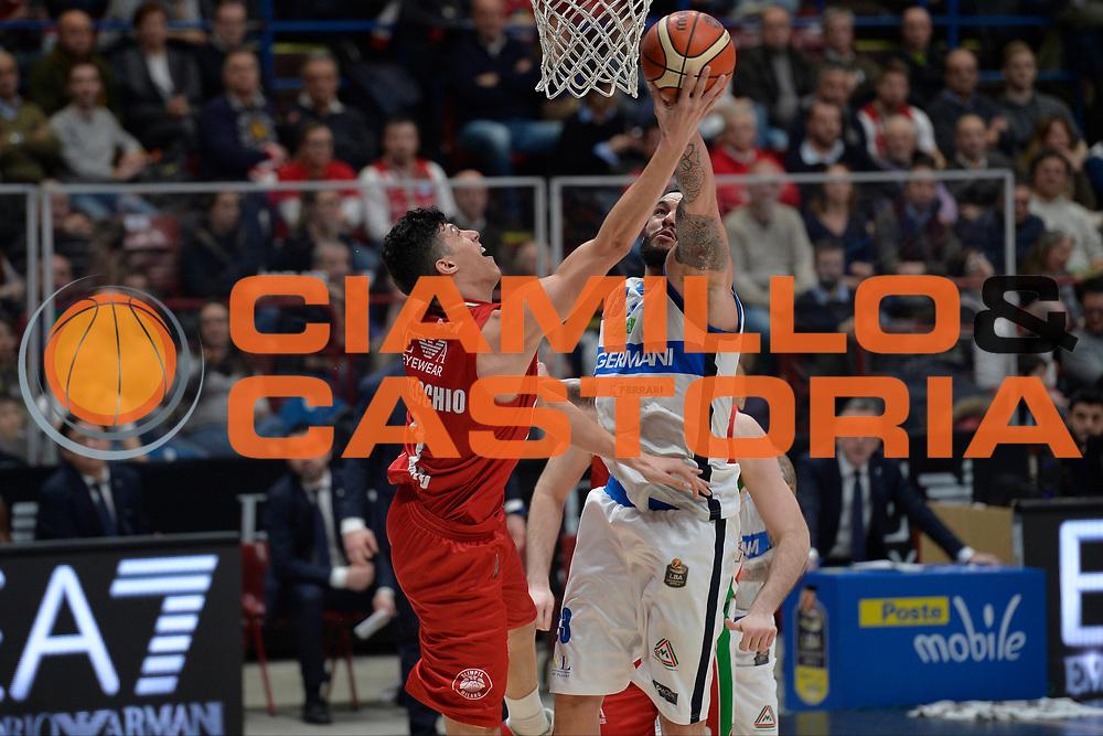 Fontecchio Simone,Christian Burns<br /> Olimpia EA7 Emporio Armani Milano vs Basket Leonessa Brescia<br /> Lega A 2016/2017<br /> Milano 12/02/2017<br /> Foto Ciamillo-Castoria