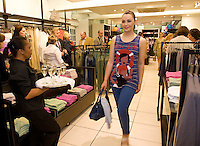 Catwalk model Siobhan Mullooly at the opening of United Colors of Benetton Store in Anthony Ryan's. Photo:Andrew Downes