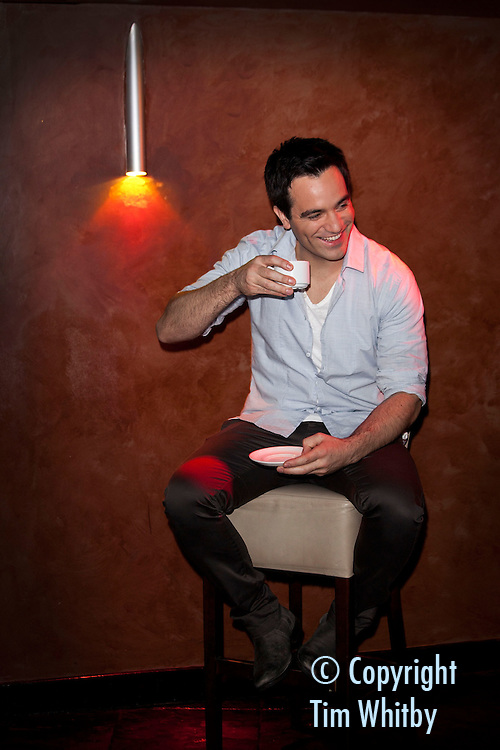 LONDON, ENGLAND - JANUARY 24:  Ramin Karimloo, the lead man in Les Miserables before performing tracks from his forth-coming debut album 'Ramin' at Cafe de Paris on January 24, 2012 in London, England.  (Photo by Tim Whitby/Getty Images)