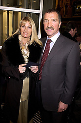 MR & MRS GRAHAM SOUNESS he is the football manager, at a party in London on 1st November 2000.OIP 95