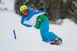 BASA Robert, banked slalom training, 2015 IPC Snowboarding World Championships, La Molina, Spain