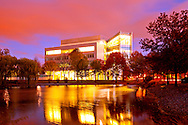 Kean College's New Science Building at Sunset by Reflecting Pond