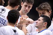 Happy Casa Brindisi team mani<br /> Vanoli Cremona - Happy Casa Brindisi<br /> LegaBasket Serie A 2017/2018<br /> Cremona, 26/12/2017<br /> Foto S.Ceretti / Ciamillo-Castoria