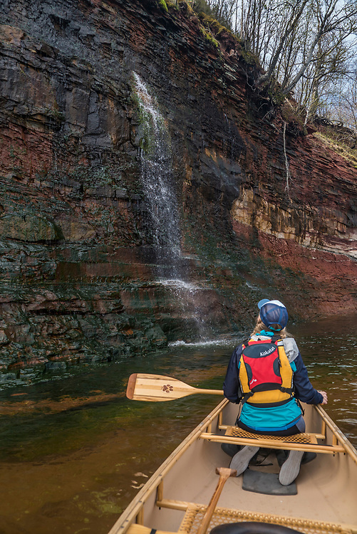 Canoeing near the mouth of the Laughing Whitefish River at Lake Superior on Michigan's Upper Peninsula.