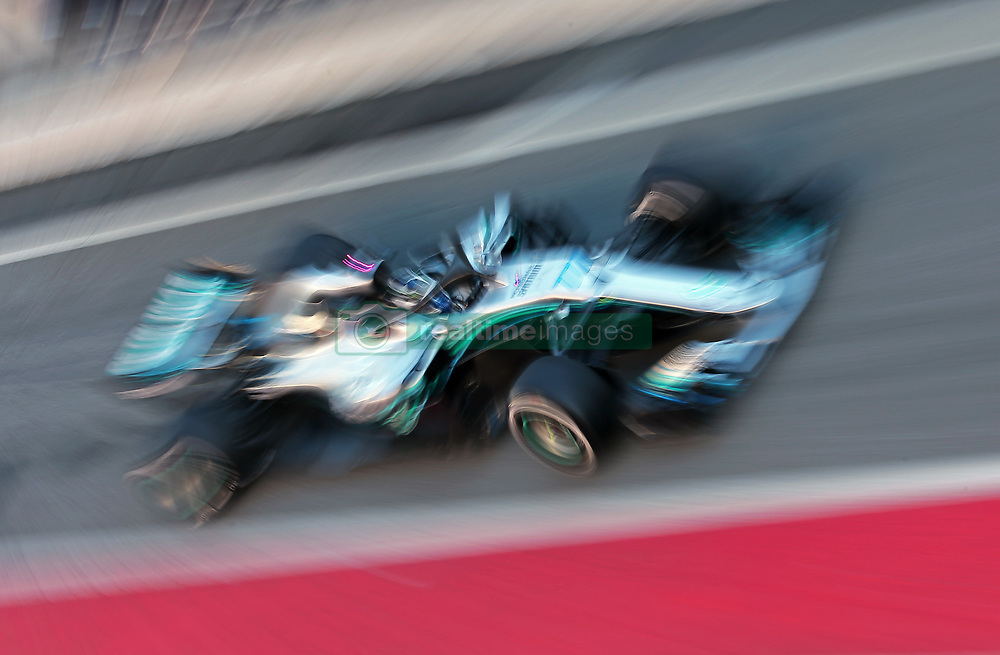March 6, 2018 - Barcelona, Catalonia, Spain - the Mercedes of Valtteri Bottas during the Formula 1 tests at the Barcelona-Catalunya Circuit, on 06th March  2018 in Barcelona, Spain. (Credit Image: © Joan Valls/NurPhoto via ZUMA Press)