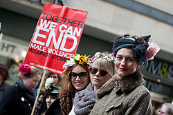 © licensed to London News Pictures. London, UK 03/03/2012. A group of women marching at Million Women Rise march against male violence and rape in London, this afternoon (03/03/12). Photo credit: Tolga Akmen/LNP