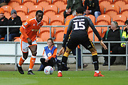 Blackpool Defender, Michael Nottingham (12)  during the EFL Sky Bet League 1 match between Blackpool and Bradford City at Bloomfield Road, Blackpool, England on 8 September 2018.