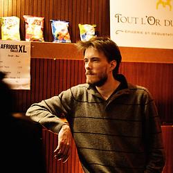 Bar du theatre Moliere, Festival des cinemas Africains a Ixelles, près de Bruxelles. 3 mars 2009. Photo : Antoine Doyen