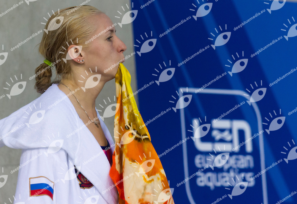 CHAPLIEVA Diana RUS<br /> London, Queen Elizabeth II Olympic Park Pool <br /> LEN 2016 European Aquatics Elite Championships <br /> Diving<br /> Women's 3m springboard preliminary <br /> Day 06 14-05-2016<br /> Photo Giorgio Perottino/Deepbluemedia/Insidefoto