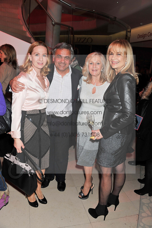 Left to right, TATIANA PISKOV, BALDASSARE LA RIZZA, LIZ BREWER and NIKI COLE at the London Design Week 2013 Party, held at the Design Centre, Chelsea Harbour, London SW10 on 18th March 2013.