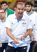 DESCRIZIONE : Skopje torneo internazionale Italia - Macedonia<br /> GIOCATORE : Simone Pianigiani<br /> CATEGORIA : nazionale maschile senior A <br /> GARA : Skopje torneo internazionale Italia - Macedonia <br /> DATA : 26/07/2014 <br /> AUTORE : Agenzia Ciamillo-Castoria