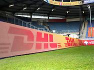 Vanaf het voetbalseizoen 2008-2009 heeft Willem II LED reclameborden in het stadion<br /> Hier het voorbeeld van DHL<br /> Foto: Geert van Erven