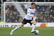 Derby County midfielder Max Bird during the EFL Sky Bet Championship match between Derby County and Bolton Wanderers at the Pride Park, Derby, England on 13 April 2019.