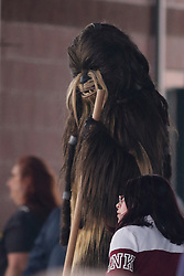 12 May 2018:  Star Wars Chewbacca during a Frontier League Baseball game between the Traverse City Beach Bums and the Normal CornBelters for Star Wars Night at Corn Crib Stadium on the campus of Heartland Community College in Normal Illinois