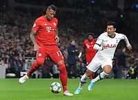 Football - 2019 / 2020 UEFA Champions League - Group B: Tottenham Hotspur vs. Bayern Munich<br /> <br /> Jerome Boateng of Bayern Munich and Heung - Min Son of Tottenham , at The Tottenham Hotspur Stadium.<br /> <br /> COLORSPORT/ANDREW COWIE