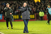 Cheltenham Town manager Gary Johnson during the Vanarama National League match between Cheltenham Town and Forest Green Rovers at Whaddon Road, Cheltenham, England on 21 November 2015. Photo by Shane Healey.