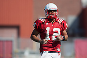 March 27, 2013: Quarterback Ron Kellogg III during practice at Hawks Championship Center in Lincoln, Nebraska.