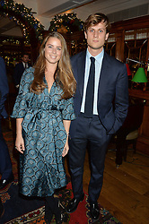 LONDON, ENGLAND 1 DECEMBER 2016: Lydia Forte, Charles Forte at the Smythson & Brown's Hotel Christmas Party held at Brown's Hotel, Albemarle St, Mayfair, London, England. 1 December 2016.