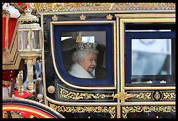 The Queen arriving for  the State Opening of Parliament in London, Wednesday, 8th May 2013.  Photo by: Stephen Lock / i-Images