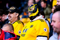 A Wolverhampton Wanderers fan in a Mexican wrestling mask in homage to Raul Jimenez of Wolverhampton Wanderers - Mandatory by-line: Robbie Stephenson/JMP - 24/04/2019 - FOOTBALL - Molineux - Wolverhampton, England - Wolverhampton Wanderers v Arsenal - Premier League