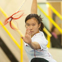 Amy Yeung, from Brampton, who will be attending the World Wushu (Kung Fu) Championships in China. Taken at her club, Sunny Tang Martial Arts.