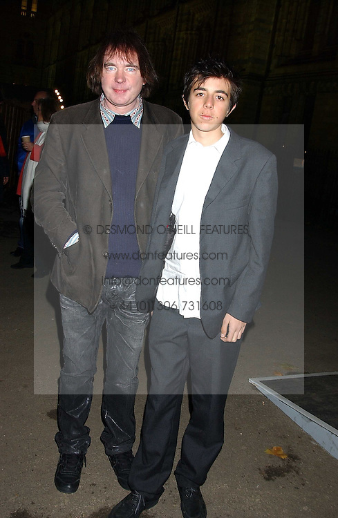 Left to right, musician JULIAN LLOYD WEBBER and his son DAVID LLOYD WEBBERat the opening of the Natural History Museum's Ice Rink on 16th November 2005.<br /><br />NON EXCLUSIVE - WORLD RIGHTS