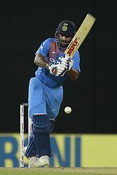 March 14, 2018 - Colombo, Sri Lanka - Indian cricketer Shikhar Dhawan plays a shot during the 5th Twenty-20 cricket match of NIDAHAS Trophy between Bangladesh and India at R Premadasa cricket ground, Colombo, Sri Lanka on Wednesday 14 March 2018. (Credit Image: © Tharaka Basnayaka/NurPhoto via ZUMA Press)