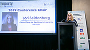 Lori Seidenberg, BlackRock and Conference Chair. Advisen's Property Insurance Insights Conference in New York City on November 21, 2019. (Photo: www.JeffreyHolmes.com)