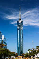 View of Fukuoka Tower in Kyushu Japan