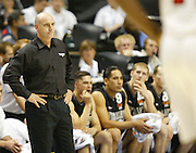 Head Coach Tab Baldwin after a technical foul was called on him of  New Zealand  during their game with the USA at Conseco Fieldhouse, Indianapolis, IN, USA during the World Basketball Championships 2002. Mandatory Photo Credit: AJ Mast/Icon SMI/ PHOTOSPORT