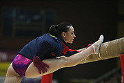 Catalina Ponor, Romania, warms up during the Arthur Gander Memorial,  Morges, Switzerland on 1 November 2017. Photo by Myriam Cawston.