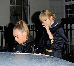 Cara Delevingne and Suki Waterhouse en route to the Fendi Store Launch in London, UK. 01/05/2014<br />BYLINE MUST READ : GOTCHAIMAGES.COM<br /><br />Copyright by © Gotcha Images Ltd. All rights reserved.<br />Usage of this image is conditional upon the acceptance <br />of Gotcha Images Ltd, terms and conditions available at<br />www.gotchaimages.com