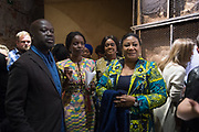 SIR DAVID ADJAYE, NANA OFORIATTA AYIM , CURATOR, FIRST LADY OF GHANA WIFE OF THE PRESIDENT, OPENING OF THE GHANA PAVILION, Designed by David Adjaye, Opening of the Venice Biennale, Venice, 8 May 2019
