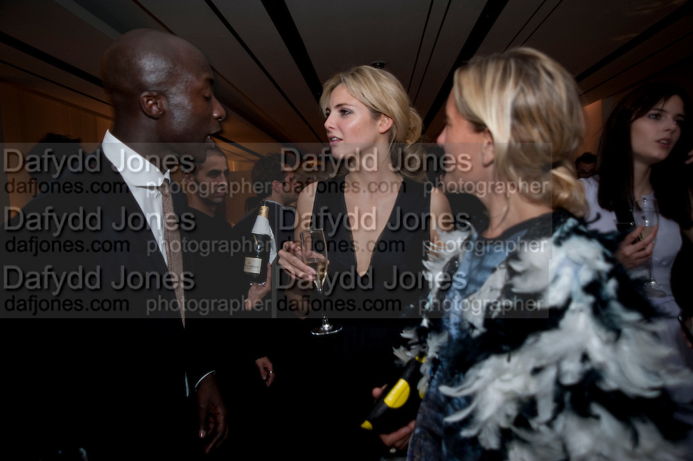OSWALD BOATENG; TAMSIN EGERTON; ALEXANDRO SEMES, Afterparty for Burberry  Spring/Summer 2010 Show. Horseferry House. Horseferry Rd. London sW1.  London Fashion Week.  22 September 2009.