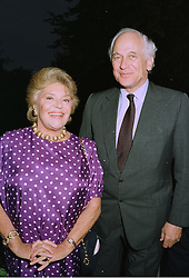 BARONESS PHILIPPINE DE ROTHSCHILD and SIR EVELYN DE ROTHSCHILD at a reception in London on 11th September 1997.MBC 123