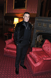 Runner up of TV's X Factor 2012 JAHMENE DOUGLAS at a reception for the Stephen Lawrence Charitable Trust hosted by the Speaker of The House of Commons John Bercow and supported by law firm Freshfields Bruckhaus Deringer in The State Rooms, Speaker's House, the House of Commons, London on 19th December 2012.