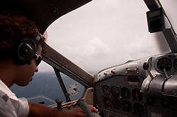 Aboard Turtle Airways' De Havilland Beaver Float Plane Enroute to Turtle Island, Yasawa Islands, Fiji