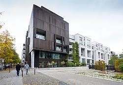 Modern new luxury residential apartment buildings at Marthashof in gentrified Prenzlauer Berg in Berlin Germany